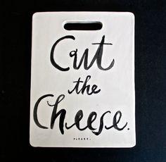 """Cut the Cheese"" Cheeseboard #Etsy #JonathanAdler #GetChicSweepstakes"