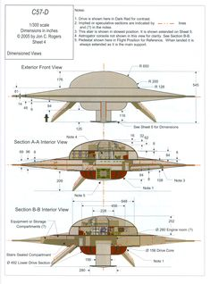 """cutaway and dimensions of the United Planets Cruiser from the movie """"Forbidden Planet"""" Ancient Aliens, Aliens And Ufos, Arte Sci Fi, Sci Fi Art, Perry Rhodan, Sci Fi Ships, Classic Sci Fi, Flying Saucer, Science Fiction Art"""