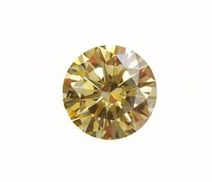 0.77 carat, Yellow, Round Brilliant diamond - very nice round stone, brilliant and very sparkly. You will love this diamond upclose. See certificate and prize - www.thegembank.com