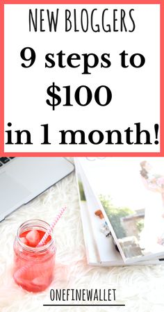 Make money blogging for beginners that would like to make their first $100 on their new blog! #makemoneyblogging #bloggingforbeginners #makemoneyonline