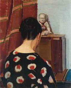 Donna di spalle in un interno - Oscar Ghiglia (1876-1945)
