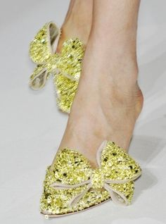 valentino haute couture glitter bow heels, ht