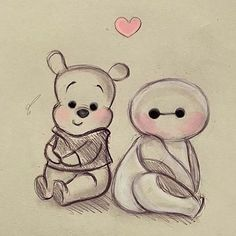 Winnie The Pooh VS Baymax, Who's The Cutest?  By @diana1992d _ @arts.display