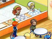 Free Online Girl Games, Run your own family restaurant as you try to serve each customer and keep everyone happy!  You'll have to be quick in serving customers or they will get frustrated and leave!  Learn to cook each dish and then recreate it as accurately as possible to make your customers happy!, #restaurant #waitress #cooking #time management