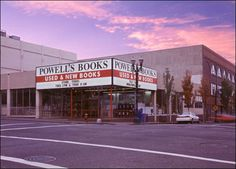 """Powell's Books, the largest independent bookstore in the world. If you get lost, you can always download the """"Powell's Map"""" app to find your way out."""