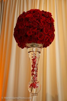 Red Wedding Centerpiece Idea  you can purchase centerpieces like this : follow links: LOT OF 12 http://www.ebay.com/itm/121104800624?ssPageName=STRK:MESELX:IT&_trksid=p3984.m1555.l2649      LOT OF 24 http://www.ebay.com/itm/121104800172?ssPageName=STRK:MESELX:IT&_trksid=p3984.m1555.l2649
