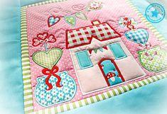 Der Stickbär   Machine embroidery Block of the Month 1 Sandras Block