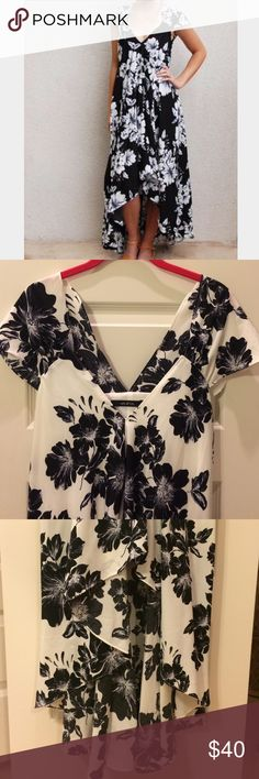 Ark & Co. White Floral Hi-Lo Maxi Ark & Co. White Floral Hi-Lo Maxi. White with black Floral print. Worn once. This dress is GORGEOUS on. Ark & Co Dresses High Low