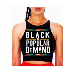 cfb9381fc0f2 BLACK BY POPULAR DEMAND® Black crop tank top Cropped Tank Top, Black Crop  Top