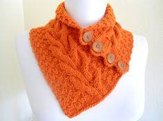 Interesting knit neck warmer.