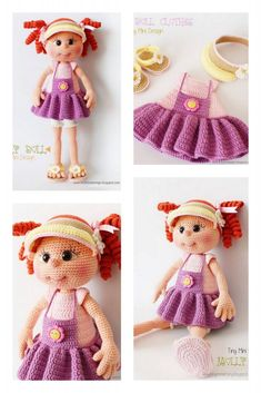 Amigurumi Wendesday Addams Free Pattern Amigurumi Doll, Amigurumi Patterns, Crochet Patterns, Crochet Needles, Hello Dear, Chain Stitch, Single Crochet, Free Crochet, Free Pattern