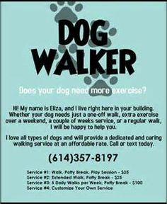 How to successfully start a pet sitting dog walking for Dog walking flyer template free