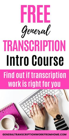 Free General Transcription Intro Course. Find out if transcription is right for you. Find out what skills you need, how to get started in transcription, who needs transcription, 3 types of transcription work and why general transcription is easier than medical transcription or legal transcription. Typing Jobs From Home, Online Typing Jobs, Online Side Jobs, Best Online Jobs, Work From Home Jobs, Transcription Jobs From Home, Transcription Jobs For Beginners, Medical Transcription, Earn More Money