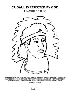 King saul coloring pages for kids ~ 29 Best King Saul images | Sunday school crafts, Bible ...