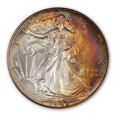 US Silver Half Dollar MS-68 1942.