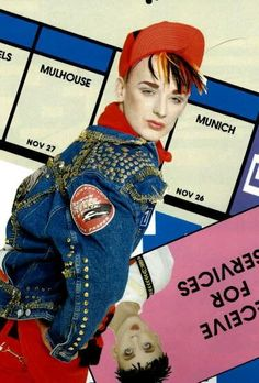 "The Boy is modeling for BOY London!   <3 Boy George looking stunning during his ""Heroin chic""-TimePeriod!"