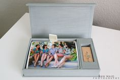 Beach inspired photography box - Wedding Photography Packaging - Custom USB drive
