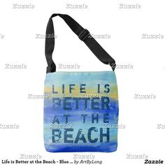 Life is Better at the Beach - Blue Abstract Art Tote Bag