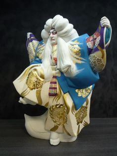 Hakata doll by Shuichi Kawasaki(川崎修一)/ Kagami-Jishi(Kabuki)鏡獅子