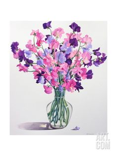 Sweetpeas, 2007 Giclee Print by Christopher Ryland at Art.com
