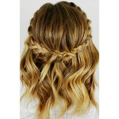 Simple Braids for Short Hair to Look Dazzling See more ❤ liked on Polyvore featuring accessories, hair accessories and short hair accessories