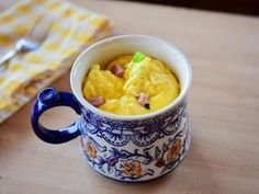 Get Mug Omelet Recipe from Food Network What's For Breakfast, Breakfast Dishes, Breakfast Recipes, Brunch Dishes, Mug Recipes, Cooking Recipes, Free Recipes, Recipies, Egg Mug