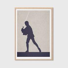 Luke Skywalker Poster : Modern Star Wars Movie Seventies Illustration Retro Art Wall Decor Print 11 x 8 Star Wars Room, Star Wars Art, Star Wars Jedi, Lego Star Wars, Nerd, Star Wars Luke Skywalker, Star Wars Poster, Star Wars Humor, Retro Art
