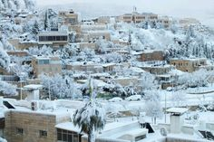 Snow in the Holy Land Jerusalem, Yesterday...