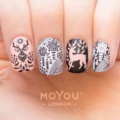 We have created the perfect autumn mani with our new animal plates  what do you guys think? Products used: Animal 12/14 // Black Knight/White Knight & Skin Silk