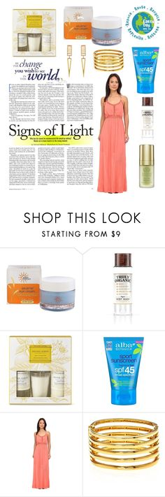 """""""Nature"""" by kimbrely-kay ❤ liked on Polyvore featuring beauty, Earth Science Naturals, Truly Organic, Williams-Sonoma, ALBA, Rip Curl and Kenneth Jay Lane"""