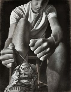 foreshortening AP Studio Drawing High School Art Concentration by Colin Williams, via Behance Ap Drawing, Teaching Drawing, Drawing Lessons, Teaching Art, Art Lessons, Shoe Drawing, Charcoal Drawing, Figure Drawing, Ap Studio Art