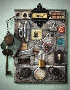 ~ Steampunk Wall Hanging by: Jack and Cat Curio ~
