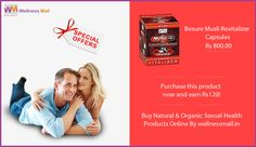 Have You Lost the Passion ? Keep your energy levels on a high with this BeSure Musli Revitalizer Capsules which are formulated to help reduce general weakness. Best Natural and Organic Sexual Health Products For Men and Women at Low Price in India , Here is The Stock of Pure Natural Sexual Health Products in Wellness mall  SPECIAL OFFER : Purchase this product now and earn ₹120! If You Have Any issue Related to Sexual Health , don't hesitate for this... You can Get Free Advice From Our…