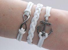 Antique Silver Bracelet, Infinity Jewelry, Anchor Bracelet, Infinity Bracelet, Anchor Jewelry, Everyday Bracelet