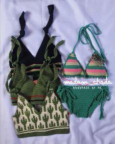 Crochet Crop Top, Crochet Blouse, Cute Crochet, Beautiful Crochet, Knit Crochet, Bralette Pattern, Crochet Bathing Suits, Bikinis Crochet, Crochet Woman