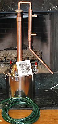 Copper Alcohol Moonshine Ethanol Still E-85 Reflux 4 Gallon Stainless Boiler