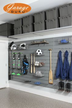 Garage Storage for Sports gear. www.garageguru.ca