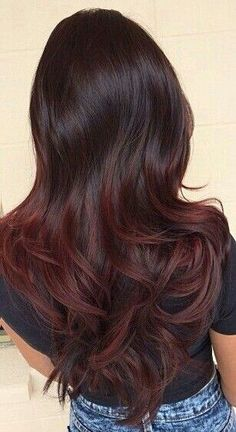 What Summer Ombré You Should Ask For Based On Your Hair Color · Betches Burgundy Hair, New Hair, Your Hair, Color Red, Hair Colour, Fall Hair Colors, Mary Kay, Work Updo, Red Highlights