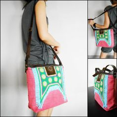 Hmong Bag Cross body bag Leather Strap by KhumWiengKham on Etsy, $49.88
