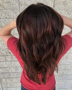Red Balayage Hair Colors: 19 Hottest Examples for 2020 Red Balayage Highlights, Brown Balayage, Hair Color Balayage, Maroon Hair Colors, Bright Red Hair, Red Hair Color, Balayage Hair Brunette Long, Short Brown Hair, Easy