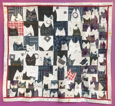 Top Award Winning Quilts at the 2018 Tokyo Quilt Festival. All photos by Luana Rubin. Japanese Quilt Patterns, Cat Quilt Patterns, Japanese Textiles, Tokyo Dome, Boro, International Quilt Festival, Animal Quilts, Dog Quilts, Baby Quilts