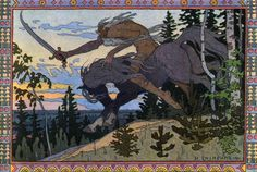 Koschei the Deathlessfrom Marya Morevna 1900 A member of The World of Art Movement