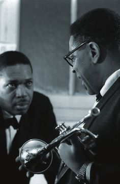 Creating magic: John Coltrane and Dizzy Gillespie..