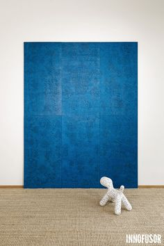 Gran Ru Pori acoustic wall panels in bright blue color. See more at www.granru.com #Scandinavian #Design #Innofusor #acoustics Acoustic Wall Panels, Contemporary, Kids Rugs, Tufted Rug, Wall, Home Decor, Acoustic, Inspiration, Wall Paneling