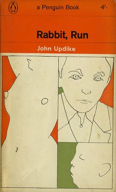 John Updike, Rabbit, Run, Penguin, 1964. Cover drawing by Milton Glaser.