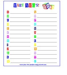 1000 images about alphabet baby shower on pinterest abc baby shower