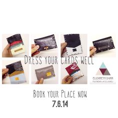 You can make yourself one too! Next one Saturday 7th of June! Come along & learn how to make yourself a leather wallet or oyster holder. Drop in anytime between 12-6pm for a 30 minute session £20. 6 Newburgh st, W1 Email to book your place - Elizabeth@elizabethdunn.co.uk