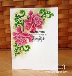 Beautiful coloring using Lacy Scrolls stamp set