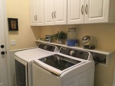 Laundry room shelf Laundry Room Shelves, Laundry Room Cabinets, Stacked Washer Dryer, Washer And Dryer, Cypress Pine, Dog Rooms, Shelf, Home Appliances, House Appliances