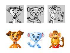 Dribbble - Kid's avatars for Promethean by Evgeniya Rodina
